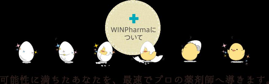 WINpharmaについて 可能性に満ちたあなたを、最速でプロの薬剤師へ導きます。